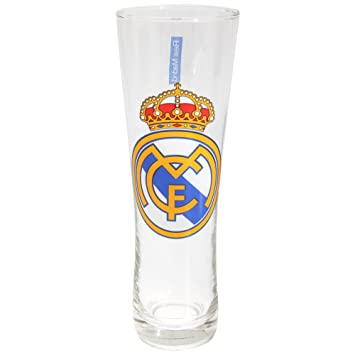 Estilo Real Madrid Oficial Peroni Fútbol Regalos Tall Pint Glass: Amazon.es: Deportes y aire libre
