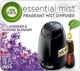 Air Wick Essential Mist Fragrance Oil Diffuser Kit, Lavender & Almond Blossom, 1 Diffuser + 1 Refill, Air Freshener