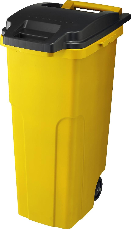 リス 『キャスター付ゴミ箱』 キャスターペール 70C2 70L 2輪 イエロー B007290T30 70L|イエロー イエロー 70L