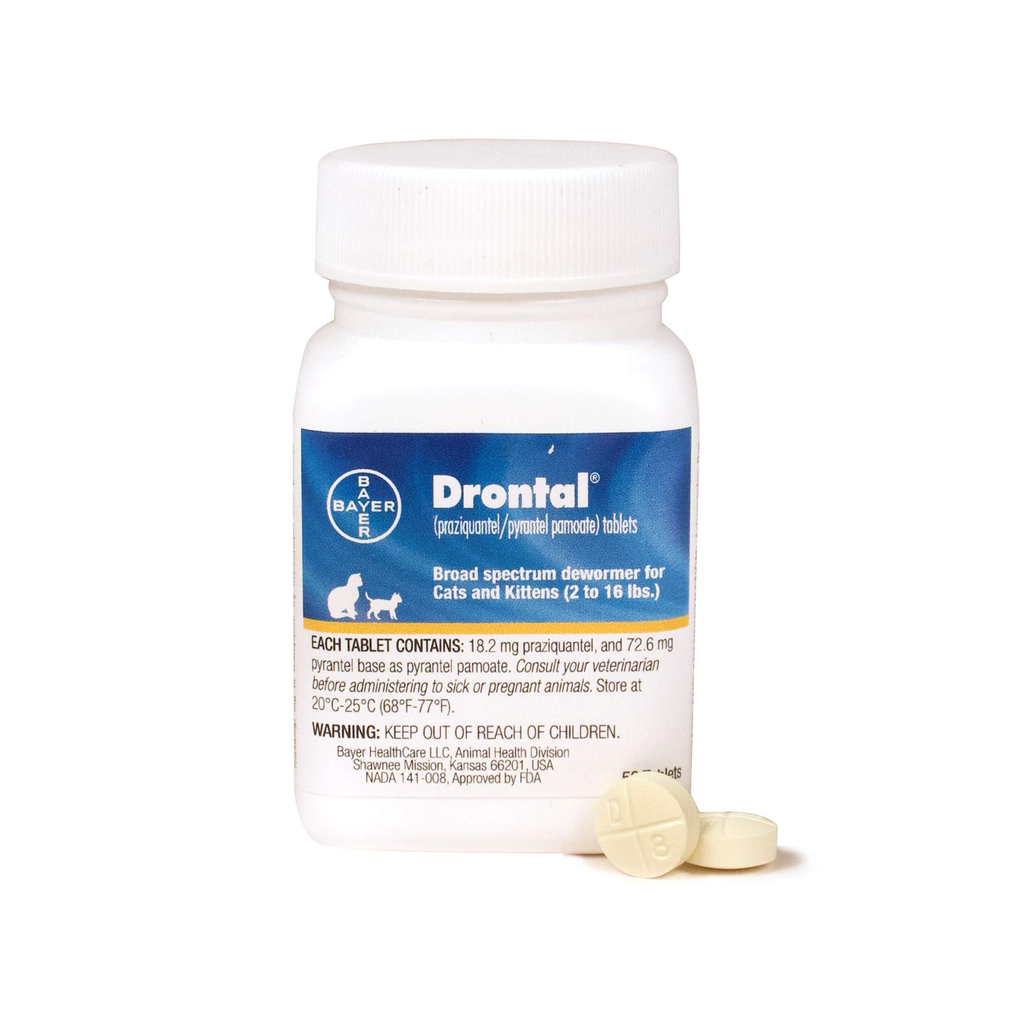 Bayer Drontal Broad Spectrum Dewormer, 50 Tablets by Bayer Animal Health
