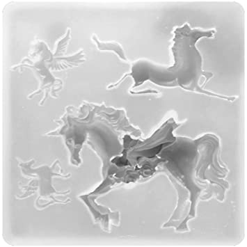 Unicorn and Horse Silicone Resin Epoxy Molds for Jewelry Making, Pastry Candy Chocolate Making,