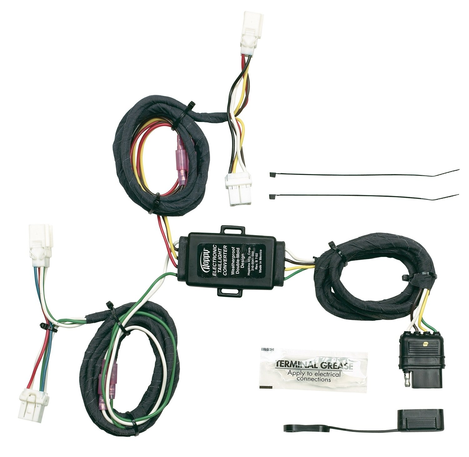 Amazon.com: Hopkins 43565 Plug-In Simple Vehicle Wiring Kit ... on push button starter installation diagram, trailer tires diagram, trailer brakes, trailer lights, trailer frame diagram, trailer battery diagram, trailer schematic, trailer hitches diagram, circuit diagram, truck cap locks diagram, cable harness diagram, trailer batteries diagram, trailer motor diagram, trailer parts, trailer connector diagram,