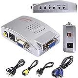 Safstar VGA to AV TV RCA Composite Converter Adapter S-video Box for PC Laptop Windows Mac (PC to TV)