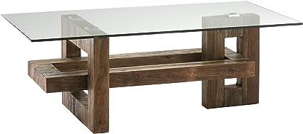 Schuller Tavolino Da Salotto Alba In Legno E Vetro Amazon It Casa E Cucina