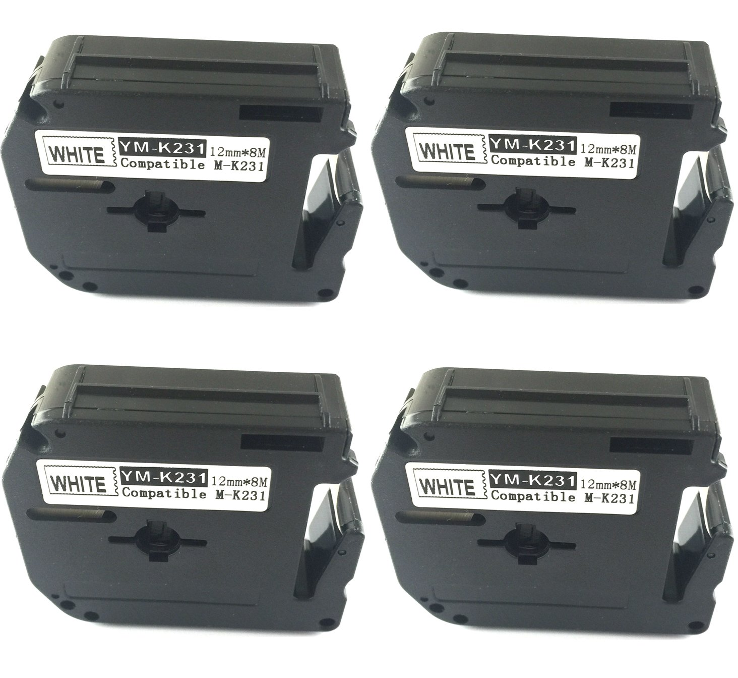 NEOUZA 4PK compatible for Brother P-touch Labeler M231 M-K231 MK231 WHITE Tape PT-45M PT-55BM PT65, PT85 ACD.auto