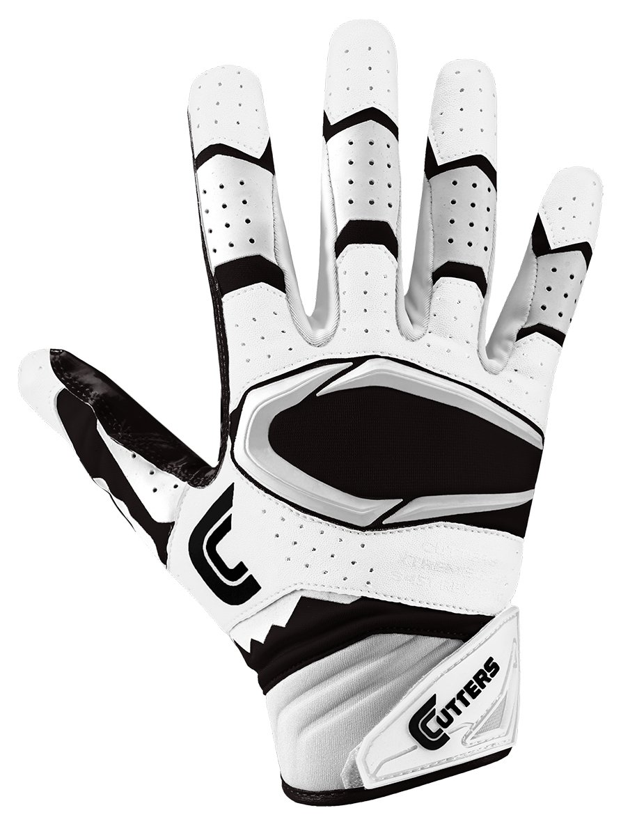 Cutters Gloves Rev Pro 2.0 Receiver Football Gloves White//Black Small Cutters Performance Gloves And Grips S451-0301-32-E