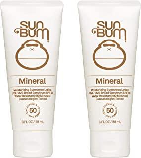 product image for Sun Bum Sun Bum Mineral Spf 50 Sunscreen Lotion Vegan and Reef Friendly (octinoxate & Oxybenzone Free) Broad Spectrum Natural Sunscreen With Uva/uvb Protection 2 Pack