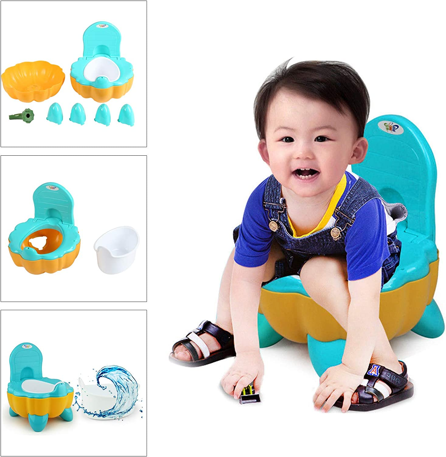 PetHot Training Carry Potty Carton Toilet Kids Baby Urinal Potty Toddler Children Toilet Training for 0-6 Years Old Babies