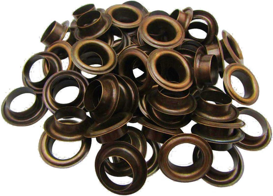 dorado set de 50 metal 20mm ojales ojales y arandelas resistente a la corrosi/ón para tela cortinas piel lona /& artesan/ías por Trimming Shop/®