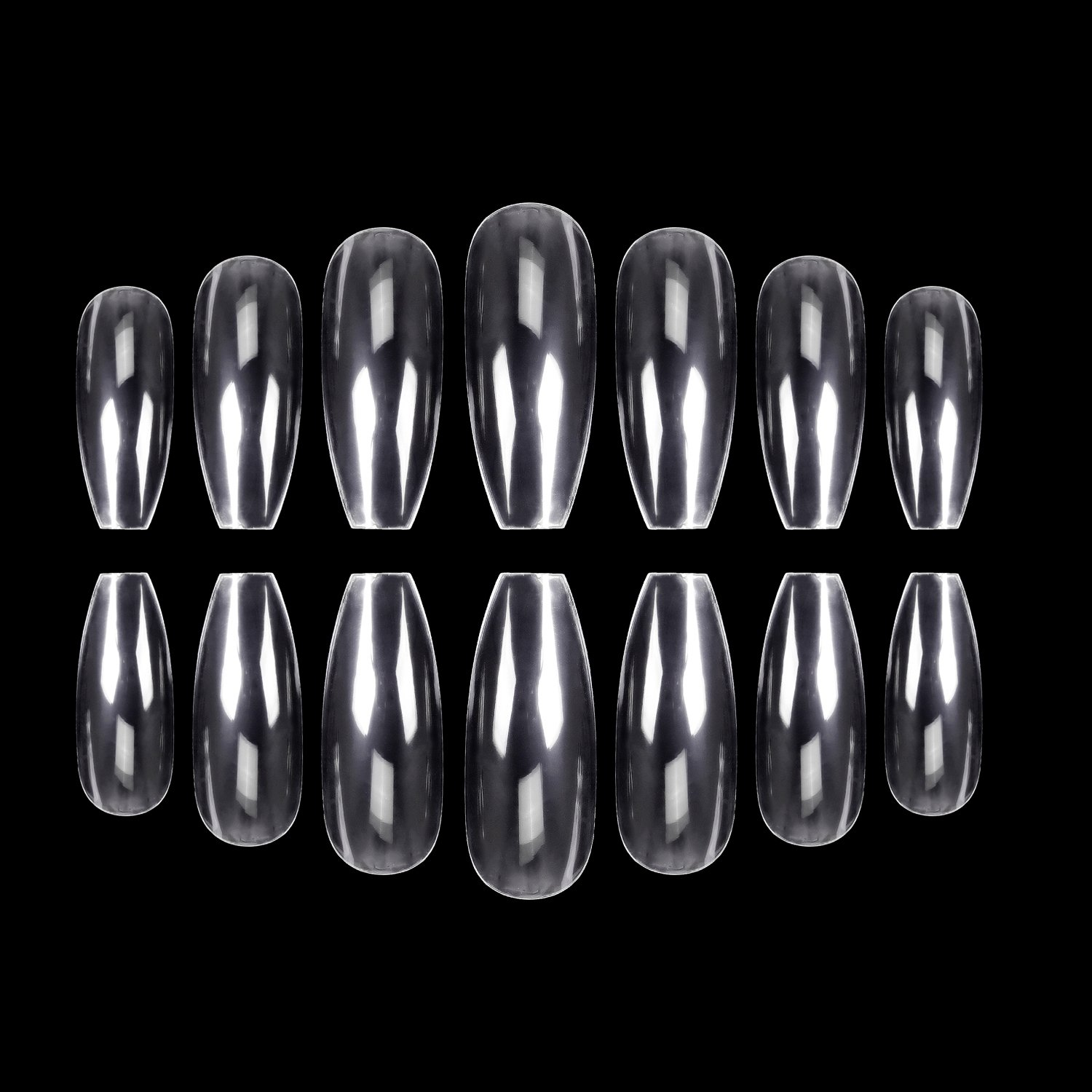 Amazon.com : ECBASKET Clear Nail Tips Stiletto Nails Full Cover Fake ...