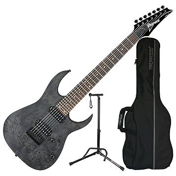 Ibanez rg7421 transparente gris soporte de RG (7 cuerdas Guitarra eléctrica (con funda y soporte: Amazon.es: Instrumentos musicales