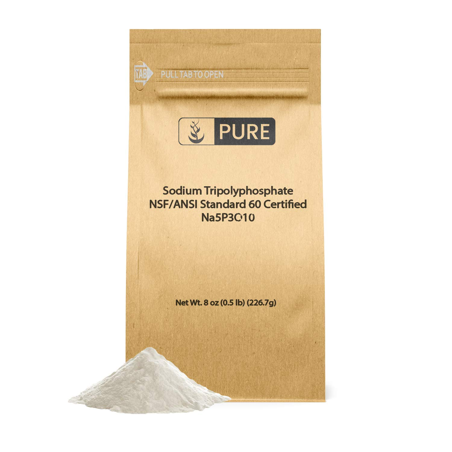 Sodium Tripolyphosphate (8 oz.) by Pure Organic Ingredients, Eco-Friendly Packaging, Helps Soften Water (Also available in 1 lb, 2.5 lb, 50 lb)