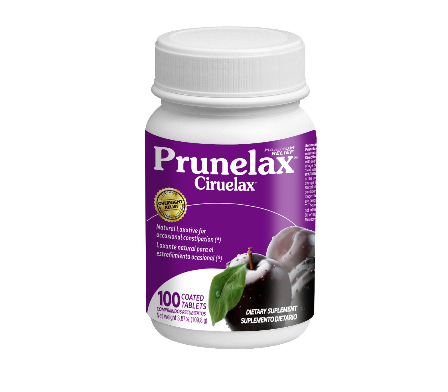 Prunelax Maximum Relief Laxatives, 100 Count