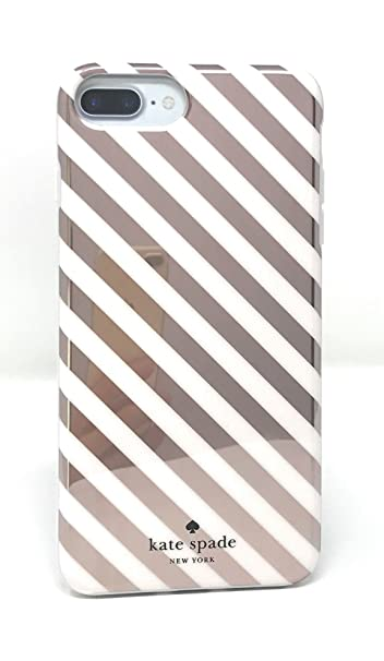 new arrival 59dcf f926e Kate Spade New York Diagonal Stripe Protective Rubber Case For iPhone 7  Plus & iPhone 6s Plus - Rose Gold Cream