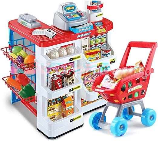 ZaiQu Juguetes para niños Juego de simulación Supermercado Grande Caja registradora Juguete Chica Mano Empuje Carro de la Compra Conjunto Regalo de cumpleaños Educación temprana Juguetes educativos: Amazon.es: Hogar