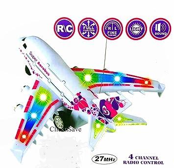 SMIW Air Bus Radio Remote Control Airplane Flight Aeroplane Plane Electric R//C Kids Toy Blue Plane