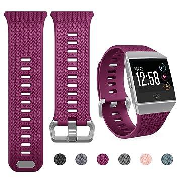 Yometome Fitbit Ionic Correa Suave TPE Sport Band Accesorios de Moda edición clásica Cómodo reemplazo Wristband para Fitbit Ionic Fitness Smart Watch ...