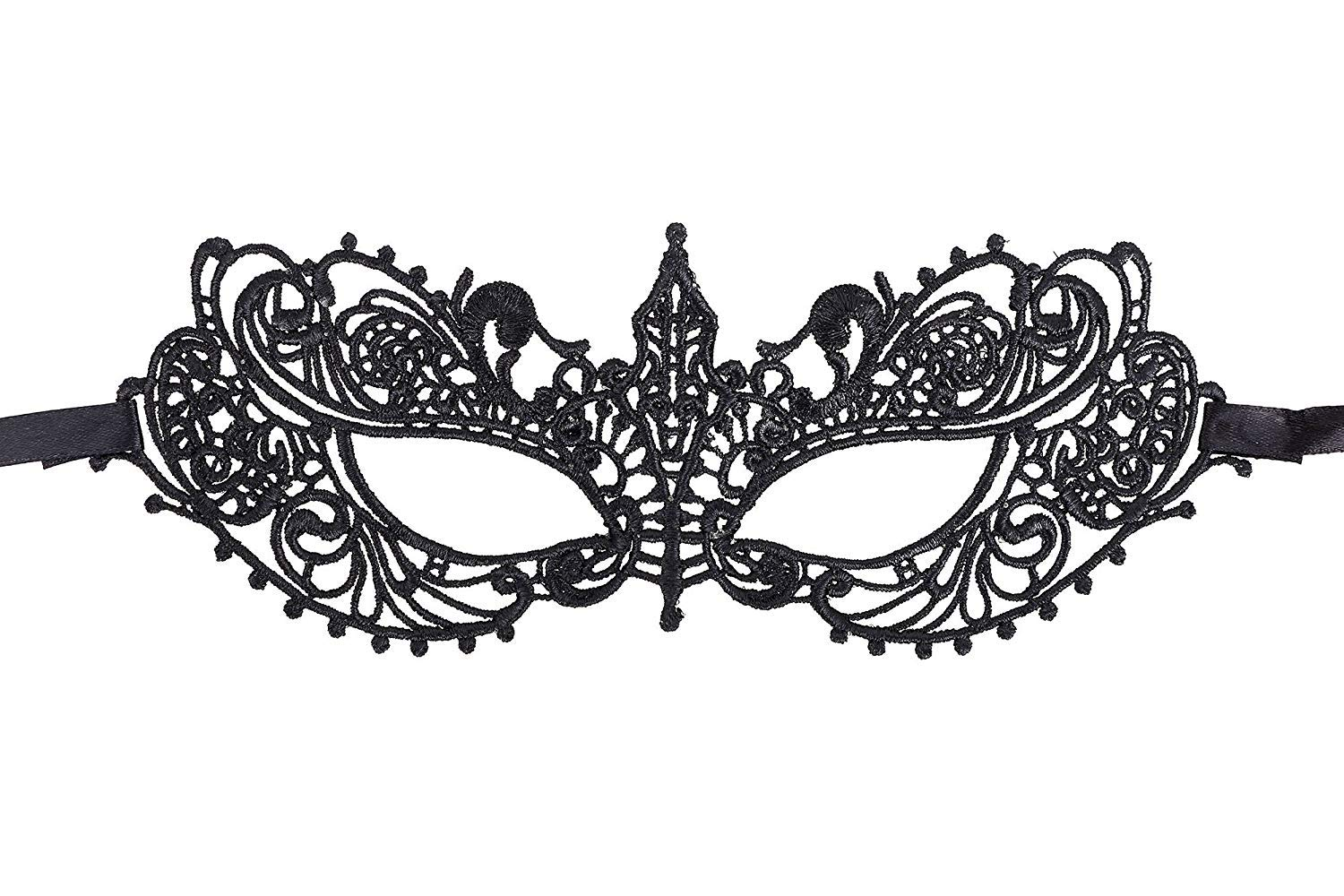 Lace Mask Masquerade Mask for Women Party Black Lace Soft Eye Good Brothers
