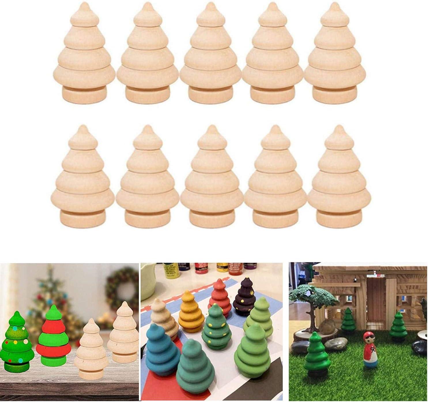 NEW 5pcs //10pcs Blank DIY Wooden People Peg Dolls Wedding Cake Toppers Craft DIY