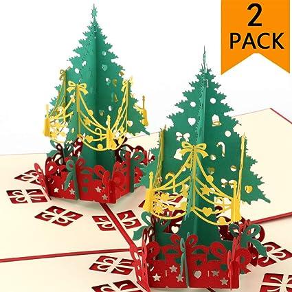 Christmas Greeting Cards Handmade.Pop Up Christmas Cards 2 Pack 3d Christmas Cards Handmade Holiday Greeting Cards Santa Claus Pop Up Cards Merry Christmas Greeting Cards For Xmas New