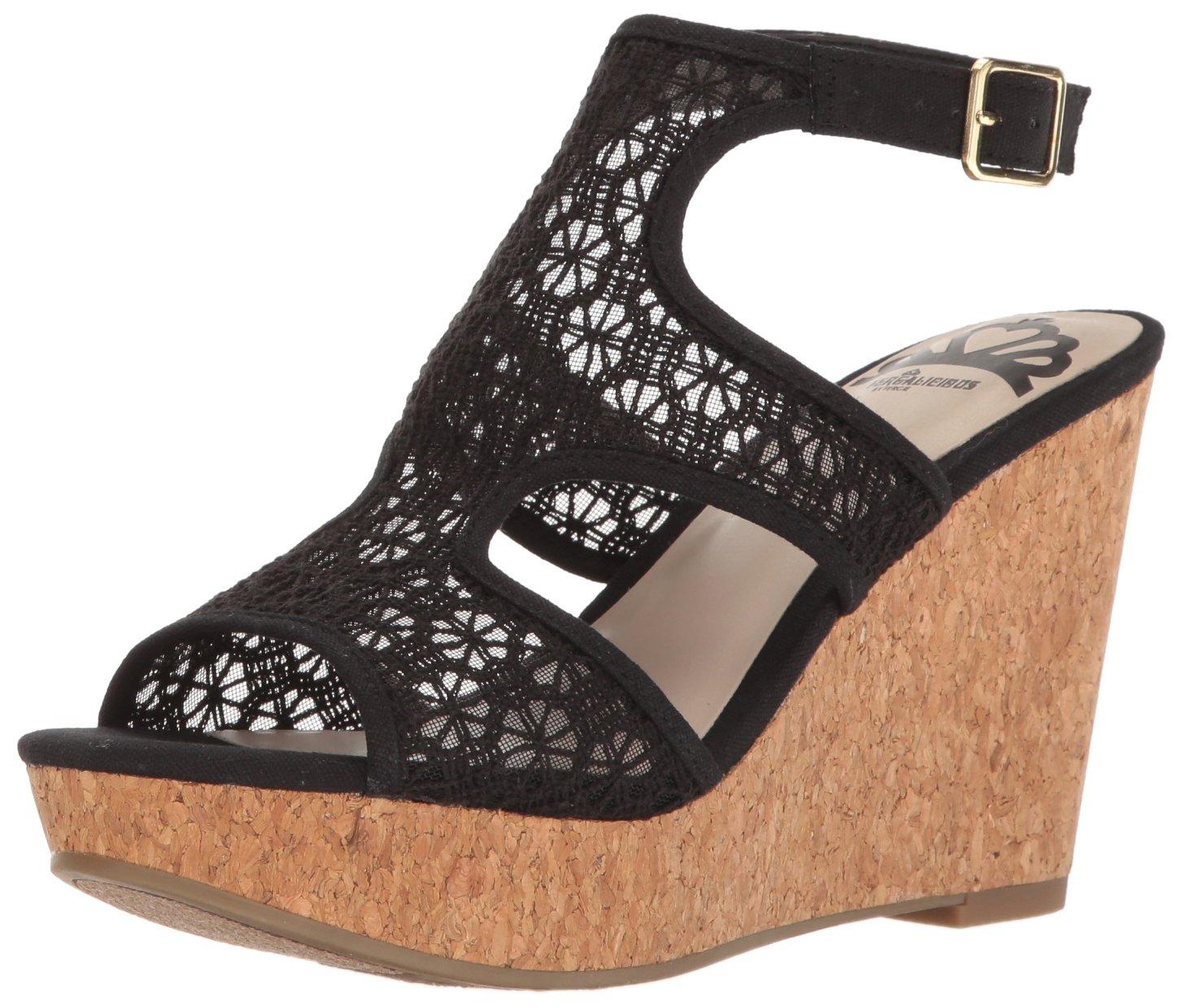 Fergalicious Women's Kendra Wedge Sandal B01MAV4JQM 6 B(M) US|Black
