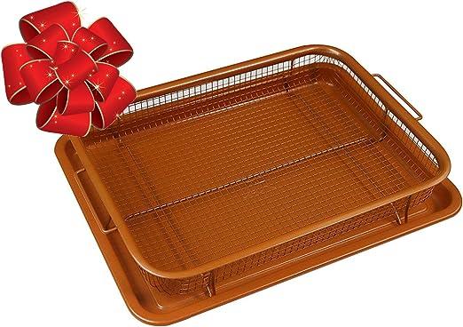 Amazon.com: WHG - Juego de 2 sartenes y cestas de malla ...