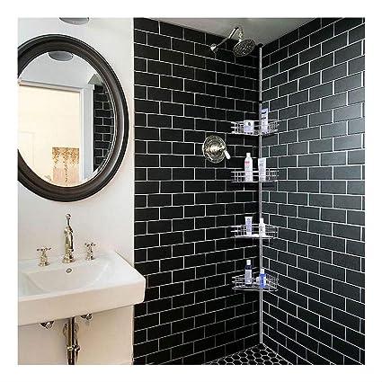 Estante de esquina de metal para ducha 418680d7a166