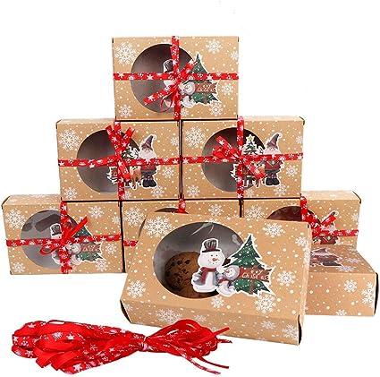 Caja para galletas con ventana y tarjetas Qsnn 12 unidades