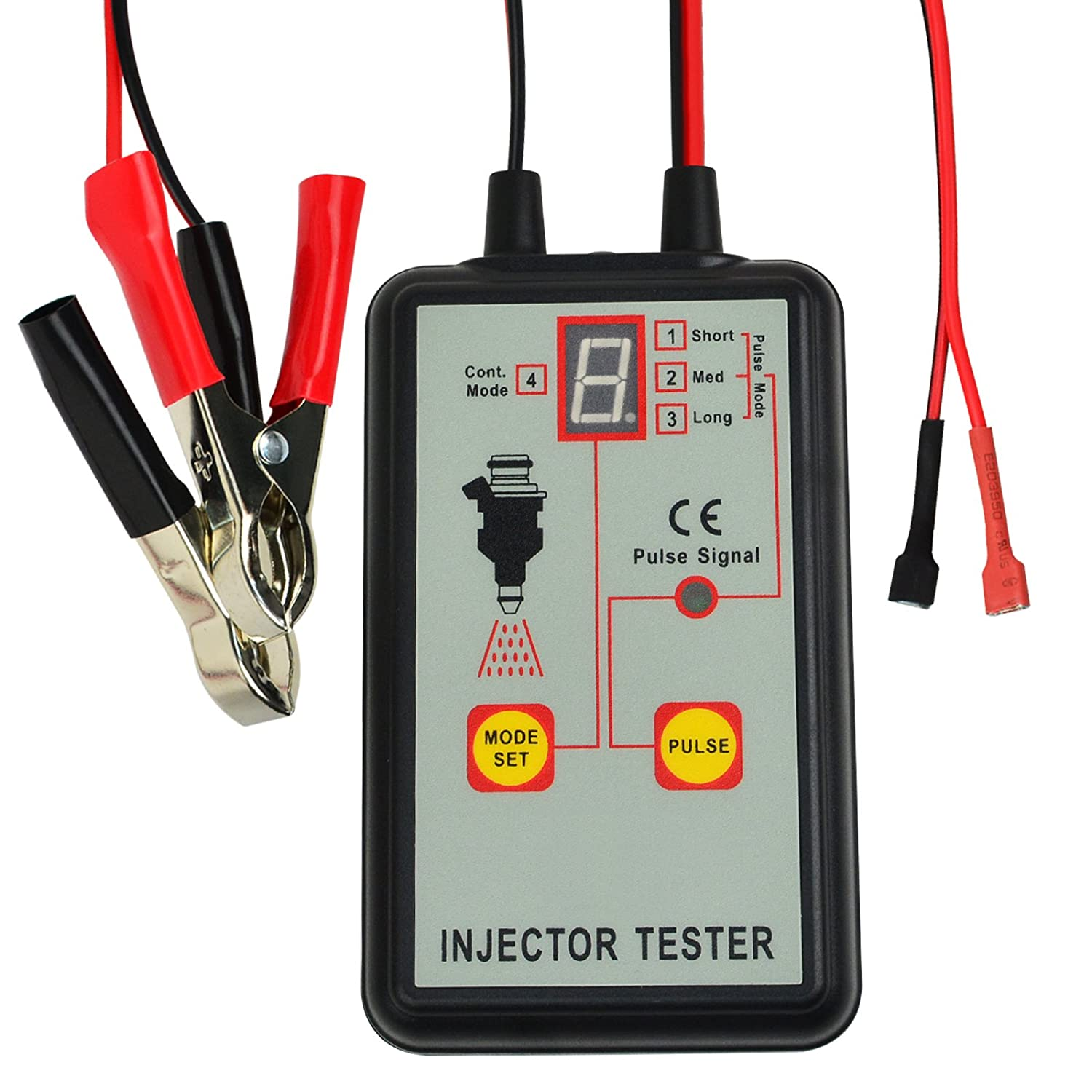 Automotive Fuel Injector Tester, 12V 4 Pulse Modes Handheld Car Vehicle Fuel Pressure System Diagnostic Scan Testing Tool Gauge, Individual Test Stuck/Leaking/Burnt-out Problem Gain Express Holdings Ltd E04-039