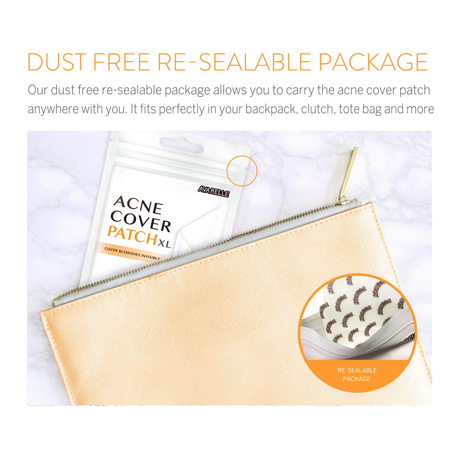 Acne Pimple Patch Absorbing Cover Blemish (XL Square / 8 PATCHES): Beauty