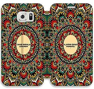 Samsung Galaxy S6 Funda, GIORNNHUS4225 Samsung Galaxy S6 Flip Funda, Lujo Manera Cuero PU Flip Funda cubierta para Samsung Galaxy S6 (TAME IMPALA)
