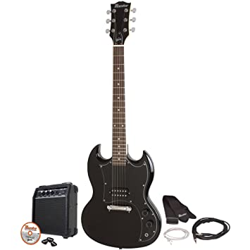 Maestro por Gibson - mesgbkch - negro doble Cutaway Guitarra eléctrica Kit: Amazon.es: Instrumentos musicales