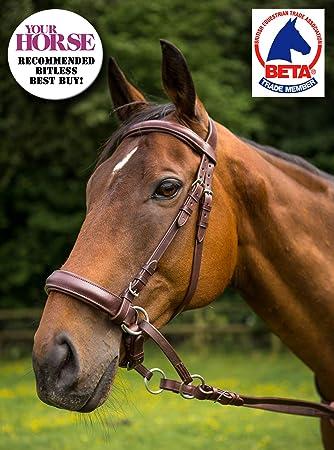 Pelle di qualità Soft Gomma Redini Grip Redini Marrone Pony Cob Full
