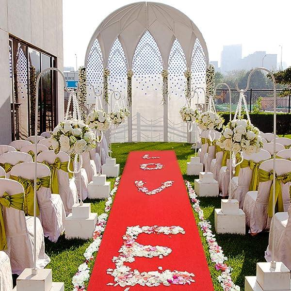 Jeteven ins Alfombra roja Rollo moqueta para Decoracion de Boda Alfombra de Pasillo Alfombra para Eventos alfombras Exteriores 5/_x/_1/_cm