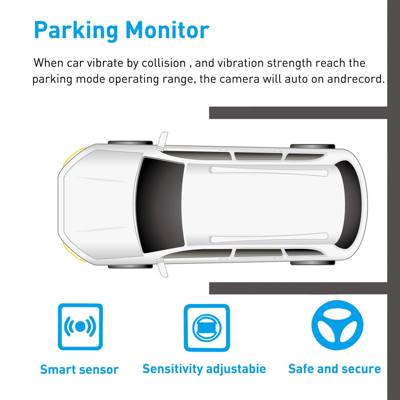 WDR 170/° Weitwinkelobjektiv HiGoing Auto Kamera mit IMX323 Sensor Fahren Recorder 1080P Dashboard-Kameras Loop Aufzeichnung Parkplatz Monitoring und G-Sensor 【Upgrade Super Nachtsicht】 Dash Cam
