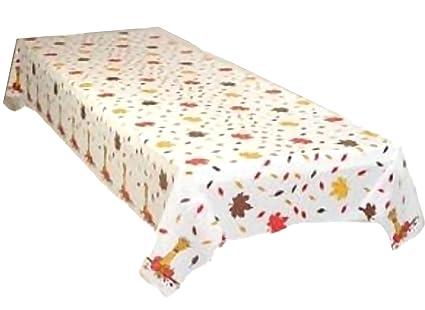 Bon Fall Leaves Plastic Tablecloth 54u0026quot; X 108u0026quot;
