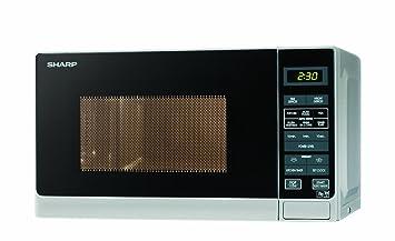 Sharp - Microondas (25 litros, 900 W), color plateado