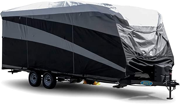 Amazon Com Camco Black Standard 56332 Rv Cover Travel Trailer Pro Tec 26 28 5 Automotive