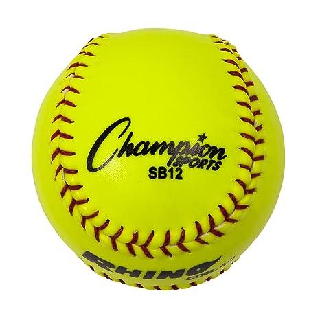 Champion Sports Optic Yellow Syntex Cover Softballs