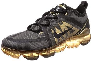 23a9d0b47515c Nike Men's Air Vapormax 2019 Black/Black/Metallic Gold Mesh Running Shoes 9  M US