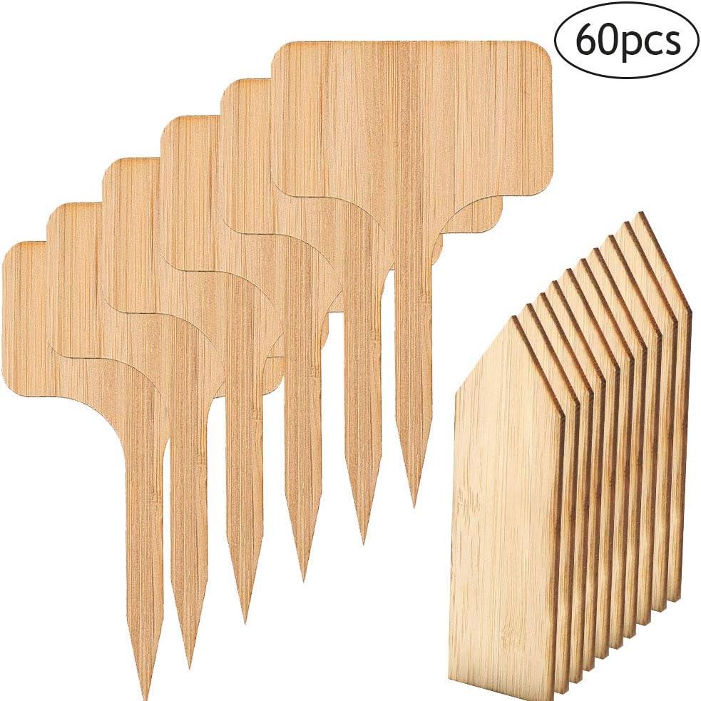 ANBET 60 Piezas Etiquetas de Plantas de bambú, 50 Piezas Etiquetas ...
