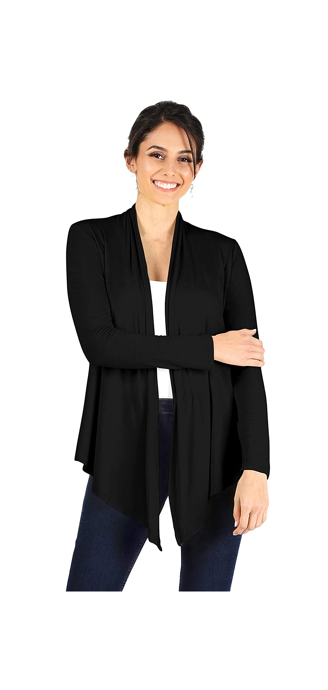 Open Front Cardigan Reg And Plus Size Lightweight For Long