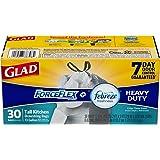 Glad ForceFlex OdorShield Tall Kitchen Drawstring Trash Bags - Febreze Crisp Clean - 13 Gallon - 30 Count