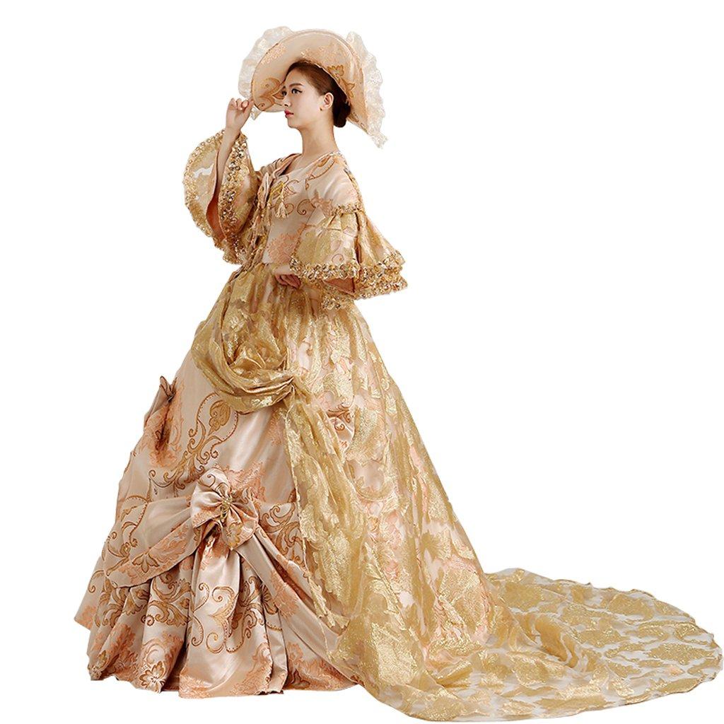 Masquerade Filles Robe Pour Longue ¨¤ Costume Gothique Reine Victorien Renaissance De Dentelle Cosplayitem Femmes Princess Palais Royal QCxhrtsd
