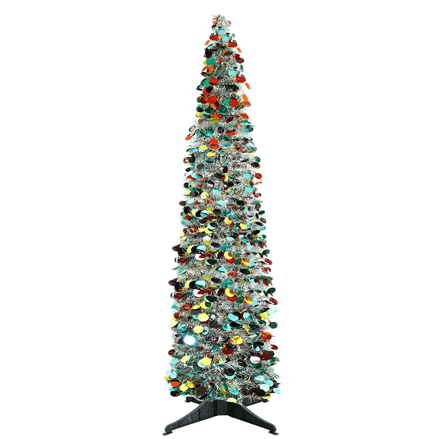 Yuqi 5 Ft Pop Up Artificial Trees Collapsible With Stand 70 Reusable For Christmaspartynext New Yearwedding Seasonal Home Decor Partysilver Point