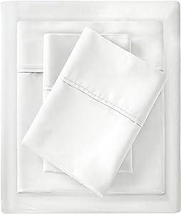 Madison Park 1500 Thread Count Sheet Set, California King, White