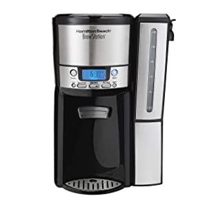 Hamilton Beach (47950) Coffee Maker with 12 Cup Capacity & Internal Storage Coffee Pot, Brewstation, Black/Stainless Steel