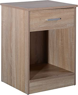 "24"" Wooden Storage Night Stand Bedside w/Drawer & Open Shelf"