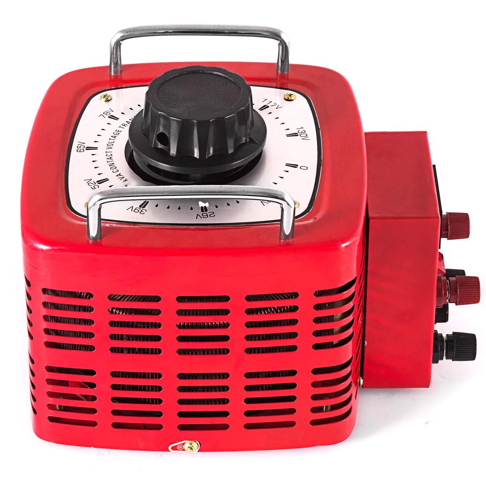 VEVOR 3KVA Transformer Max 30 Amp Variable Transformer 0~130 Volt Output Variable AC Voltage Regulator for Industries Equipment Appliances by VEVOR (Image #3)