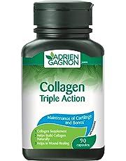Adrien Gagnon - Collagen With Lysine & Vitamin C, Triple Action, 90 Capsules